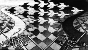 "Escher's ""Day and Night"""